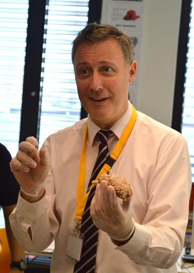 Dr Guy Sutton Visits During Brain Awareness Week